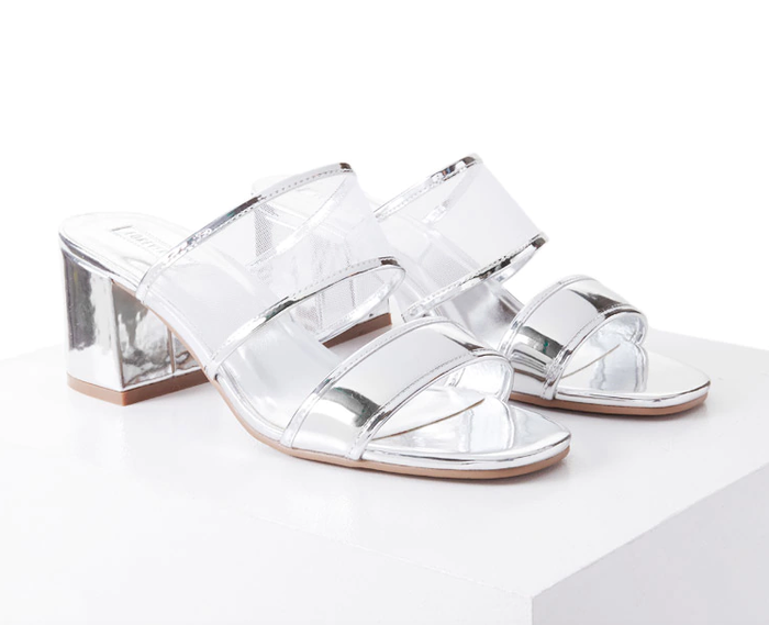 f8c93b56c41 Pinterest · Shop · Forever 21 Metallic Mesh Sandals ...