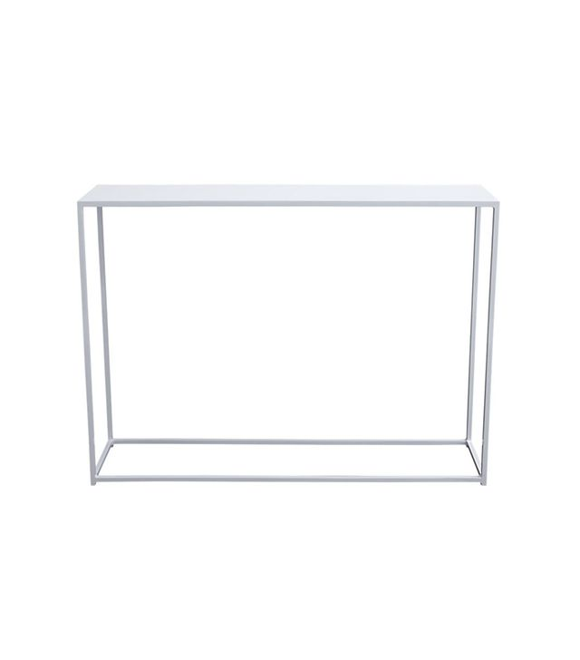 mini mill white console table