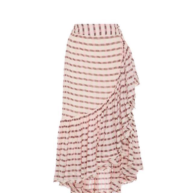 Gretchen High-Rise Cotton Wrap Skirt