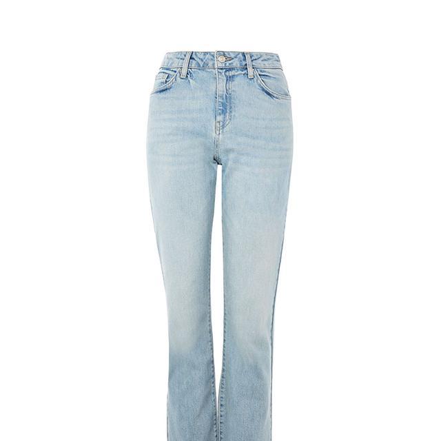 MOTO Bleach Cropped Kick Flare Dree Jeans