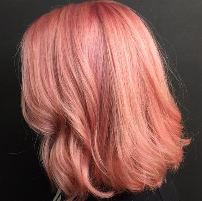 Pink Champagne Hair Colorhair Color Trend Byrdie