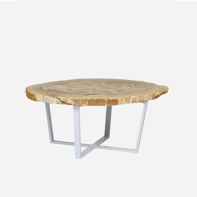 Fenton & Fenton Petrified Wood Coffee Table