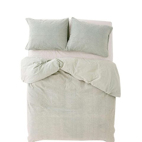Eyelet Stripe Duvet Cover