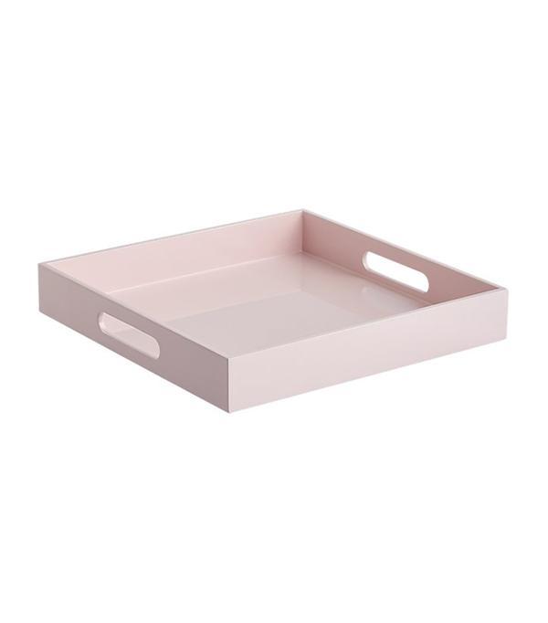 hi-gloss small square pink tray