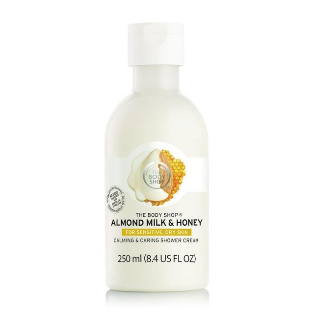 The Body Shop Almond Milk & Honey Calming & Caring Shower Cream