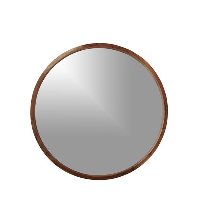 "acacia wood 24"" wall mirror"