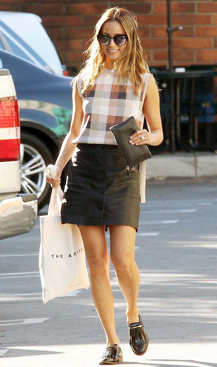 How To Style A Miniskirt The Celebrity Way Who What Wear