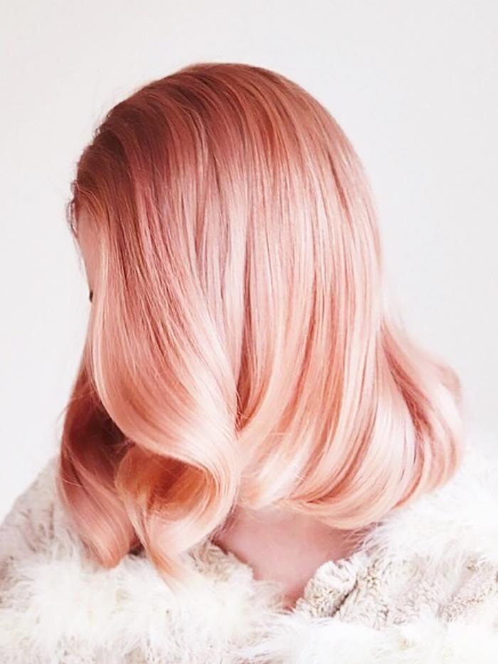 Peach Hair Color Byrdie