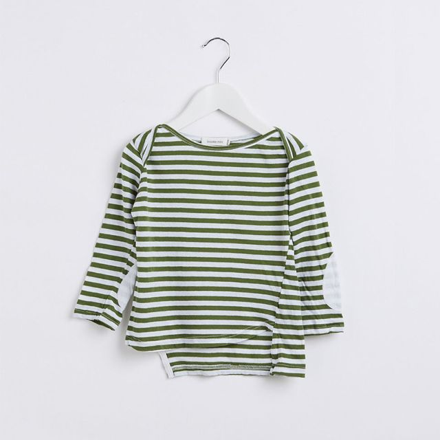Bassike Long Sleeve T.Shirt with Elbow Patch