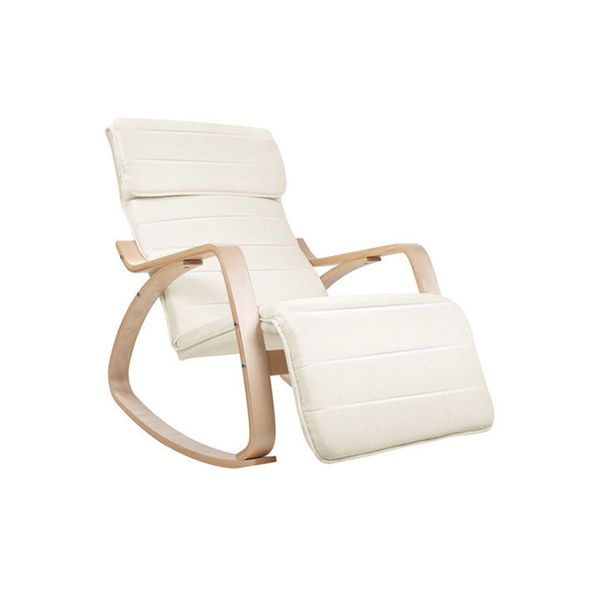 i.Life Birch Plywood Adjustable Rocking Recliner Chair