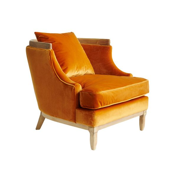 Bella Casa Keely Velvet Goldmine Chair