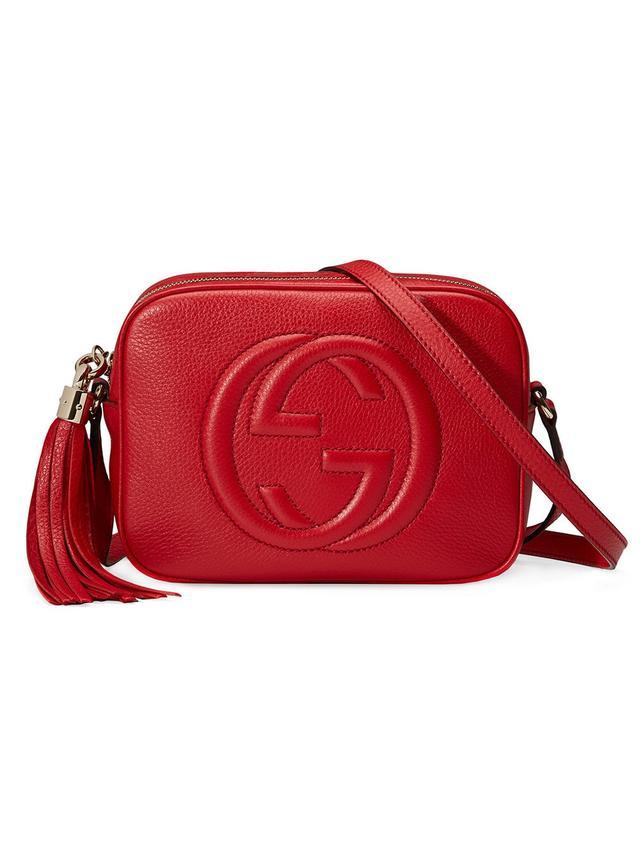 Gucci Soho bag: Gucci Soho Disco Textured-Leather Shoulder Bag