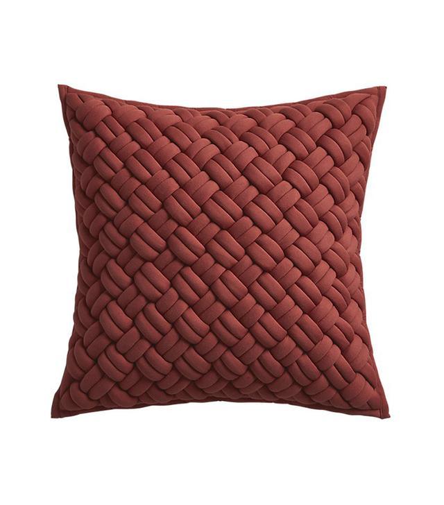 "20"" jersey interknit wine pillow with down-alternative insert"