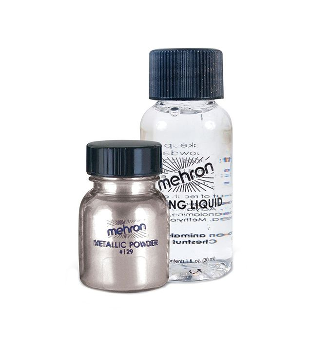 Mehron Makeup Metallic Powder With Mixing Liquid