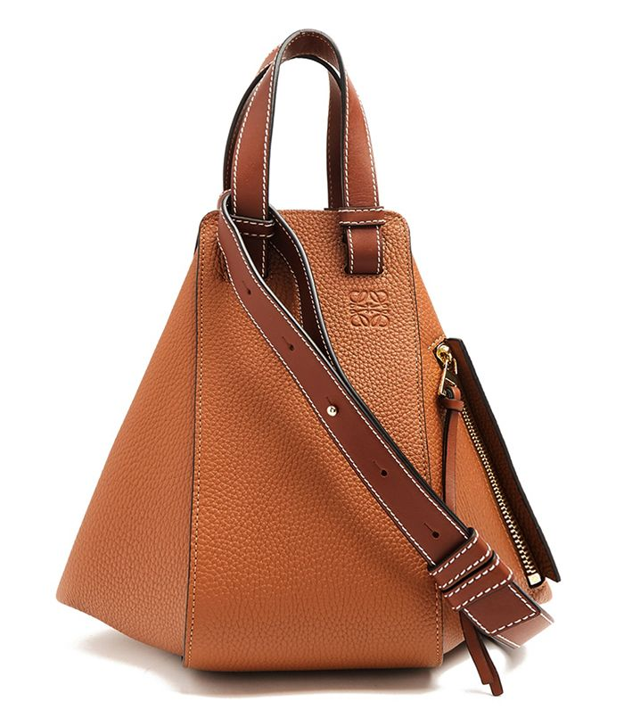 771fc3afe3 Pinterest · Shop · Loewe Hammock Small Grained-Leather Tote ( 2290). Wear a  simple dress with this geometric bag.