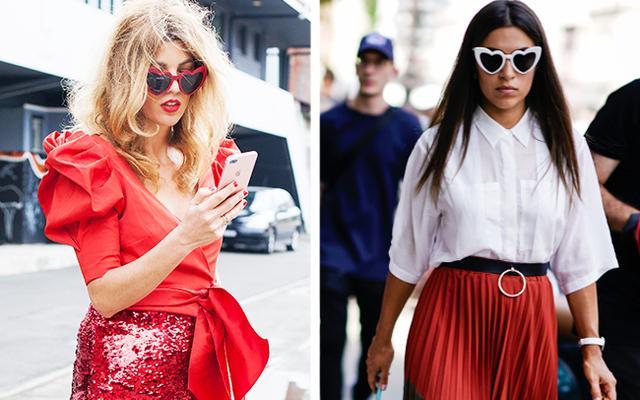 14dbdb1cb23 Saint Laurent s Loulou Heart-Shaped Sunglasses Are Trending