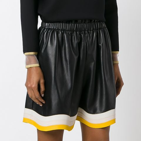 Pleated Detail Shorts