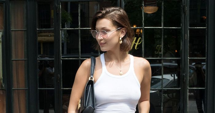 Bella Hadid Goes Braless In Nyc Who What Wear