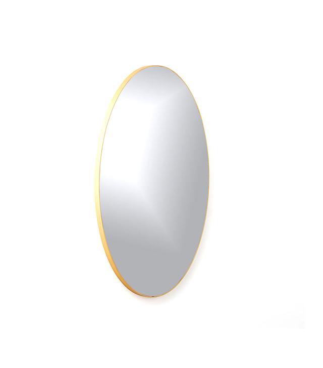 """Infinity Brass Oval Wall Mirror 24""""x36"""