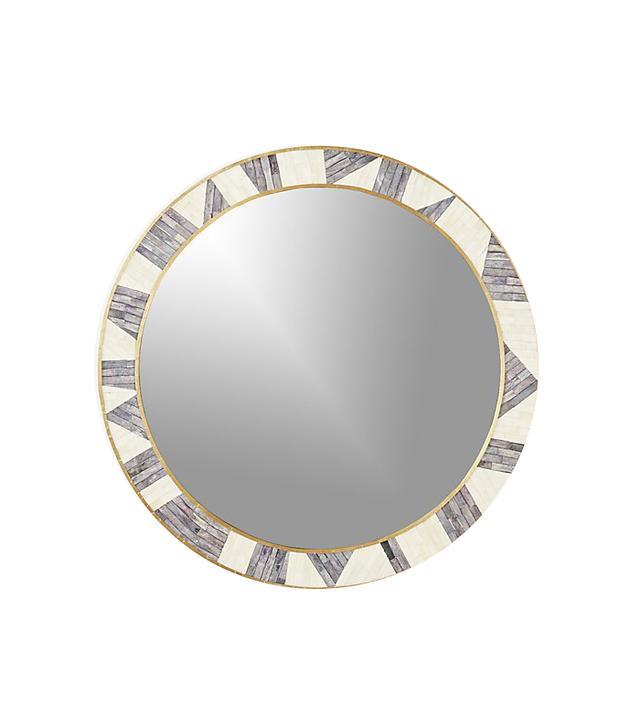 Grace Bone Inlay Round Wall Mirror 32