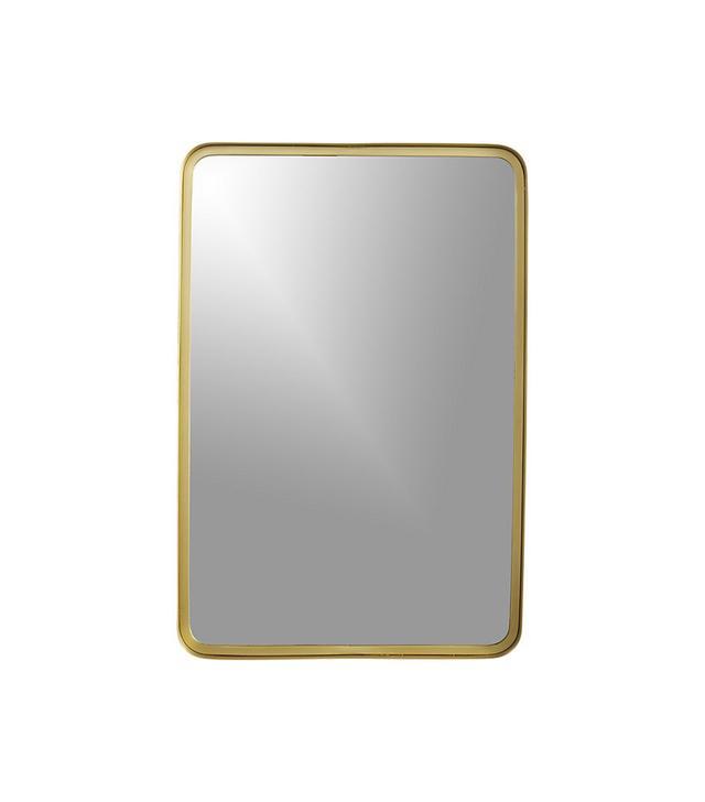 CB2 Croft Brass Wall Mirror