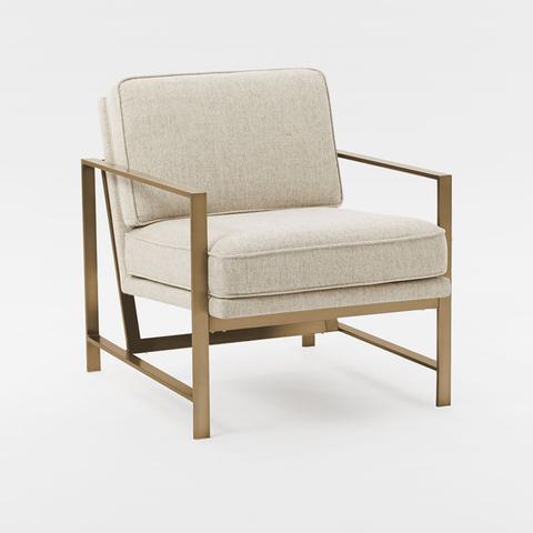 Metal Frame Upholstered Chair