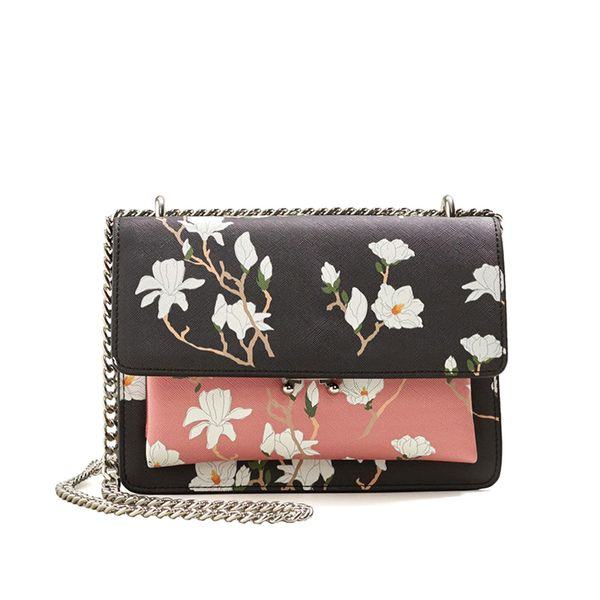 Bicolor floral bag