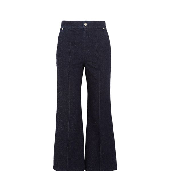 Parsley Cropped Flared Jeans