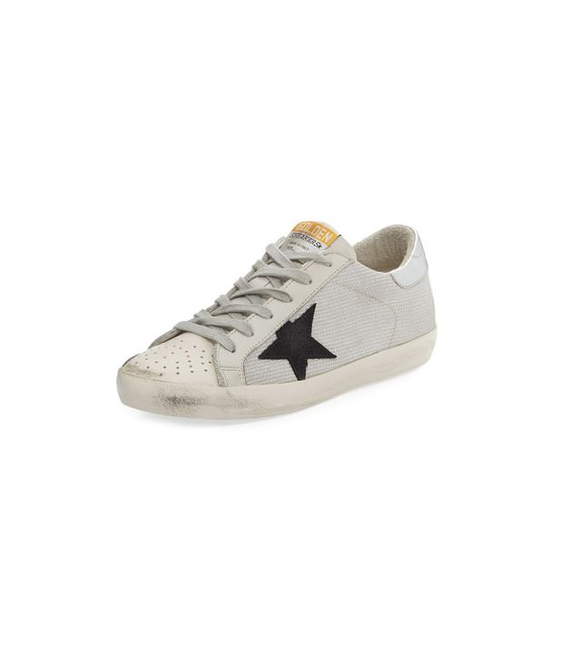 Golden Goose Superstar Low-Top Metallic Knit Sneaker
