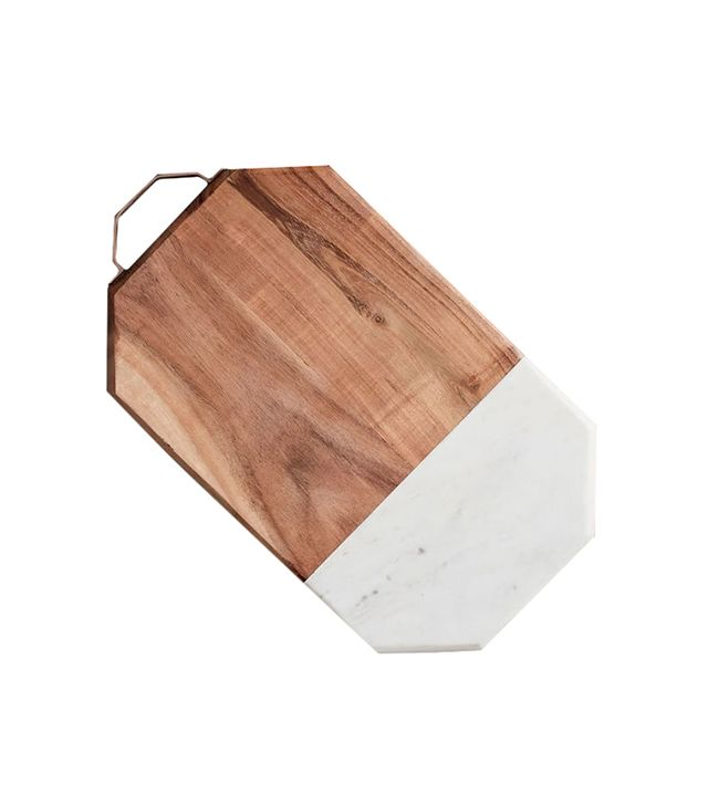 Marble + Wood Cutting Board