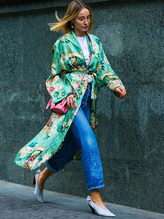 5a2f97ee9 9 Cool Ways to Wear a Kimono | Who What Wear
