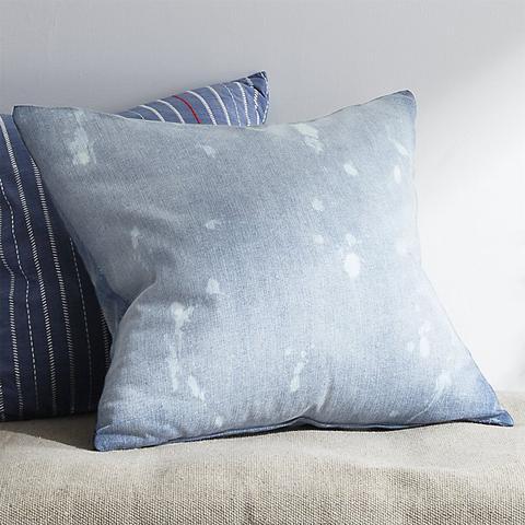 Splatter Denim Pillow