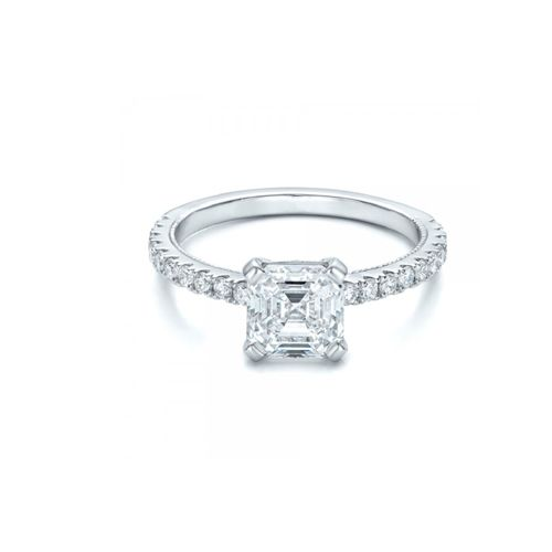 Ramzi's Asscher Cut Diamond Engagement Ring 18K Gold