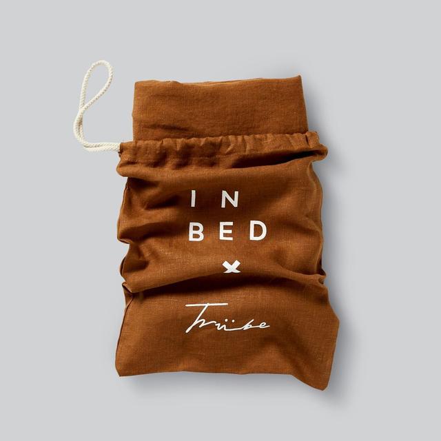 In Bed 100 percent Linen Duvet Set in Tobacco