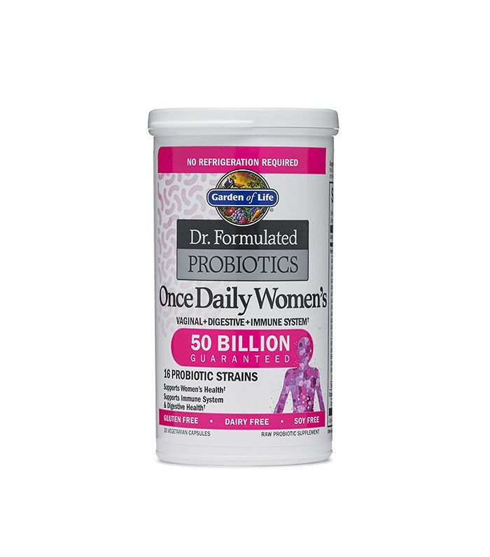 The best probiotics for women byrdie for Garden of life once daily women s probiotic
