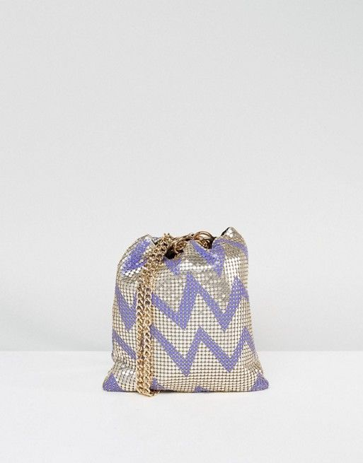 ASOS Zig Zag Chainmail Pouch Clutch Bag