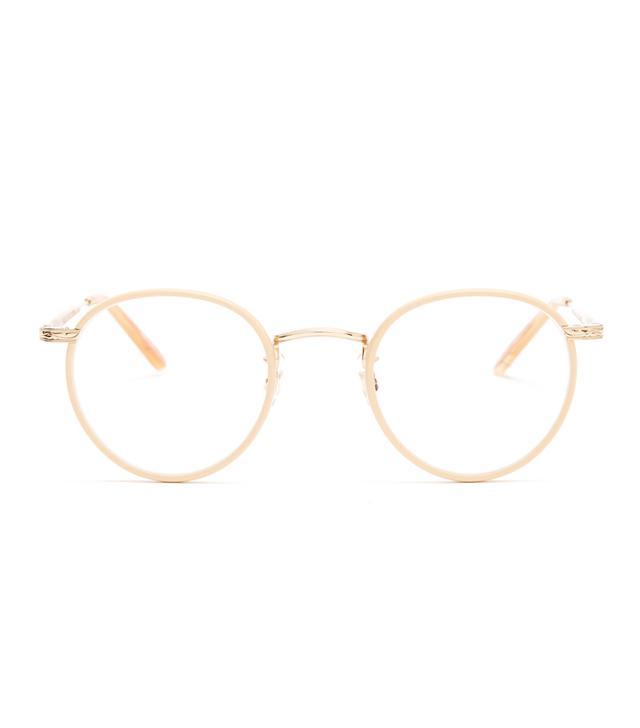 f6fc7ed765e Garrett Leight Metal Frame Glasses  Garrett Leight Wilson 46 Round-Frame  Glasses
