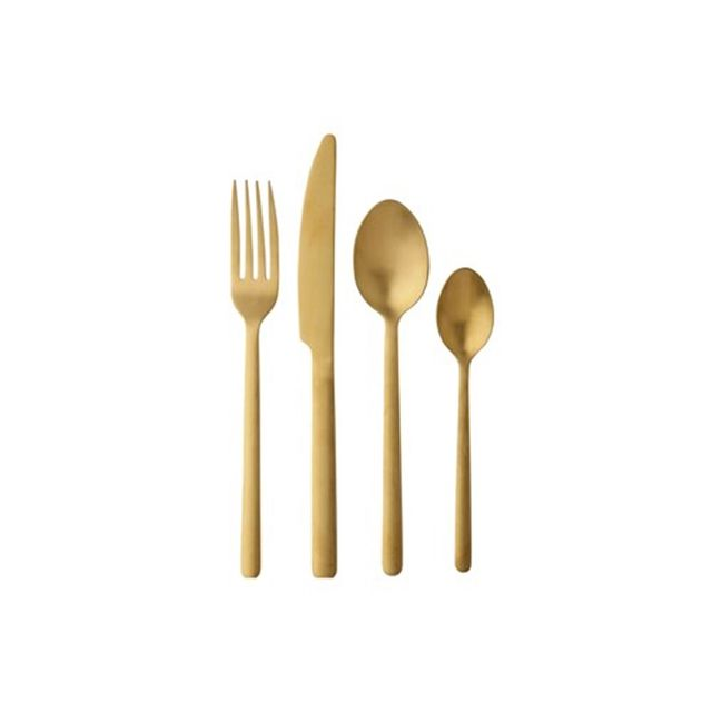 Maxwell & Williams Elemental Cutlery Set 16 Piece Gold