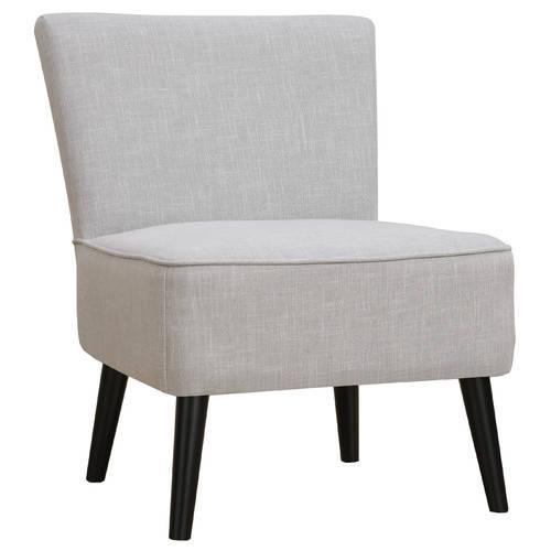Milan Direct Linen Light Grey Glover Accent Chair