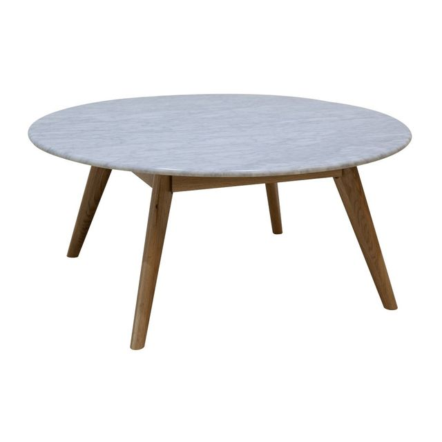 Life interiors Oia Round Marble Coffee Table