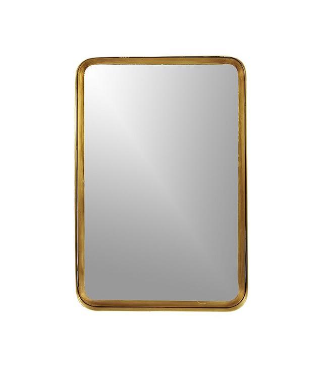 CB2 Croft Brass Mirror