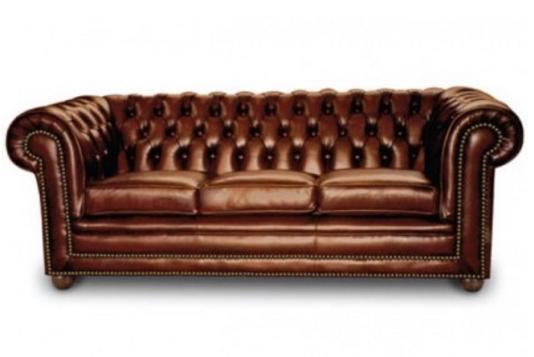 Leathercraft Golden Tan Chesterfield Sofa