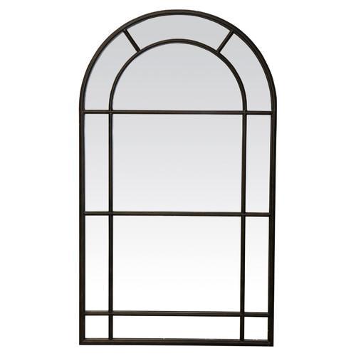 Temple & Webster Black Medium Iron Mirror