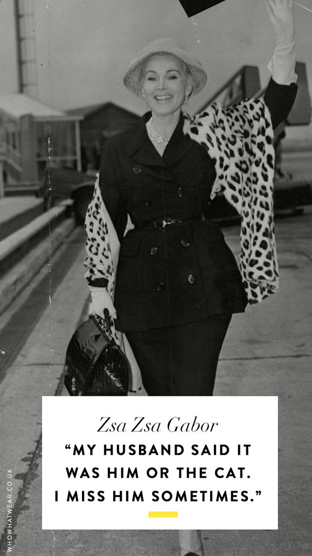 The Best Zsa Zsa Gabor Quotes Of All Time Who What Wear AU Fascinating Zsa Zsa Gabor Quotes