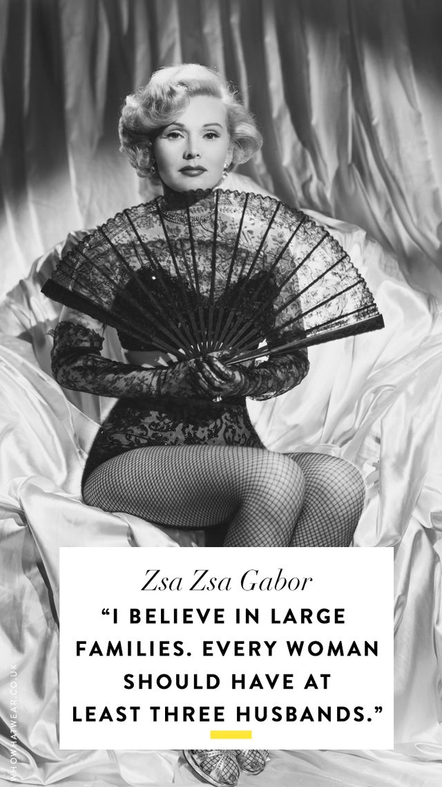 The Best Zsa Zsa Gabor Quotes Of All Time Who What Wear AU Awesome Zsa Zsa Gabor Quotes
