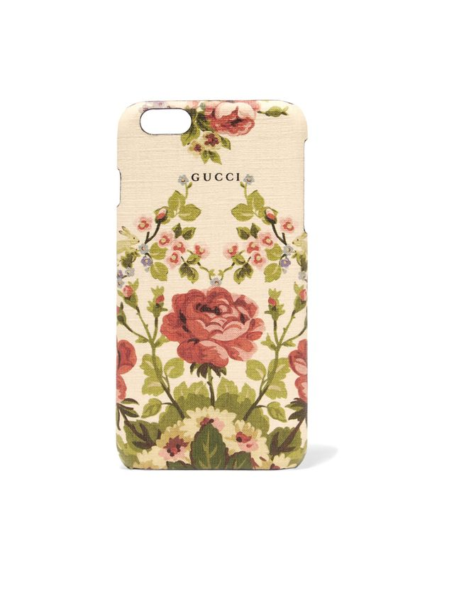 Gucci Adonis floral-print textured iPhone 6 Plus case