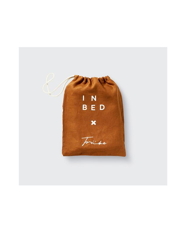 In Bed x Triibe 100% Linen Pillowslip Set in Tobacco