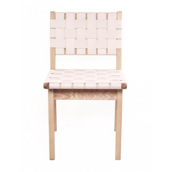 White Strap Girona Accent Chairs Set of 2 by World Market