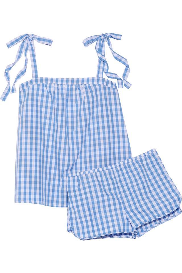 Three J NYC Sadie gingham cotton-poplin pyjama set