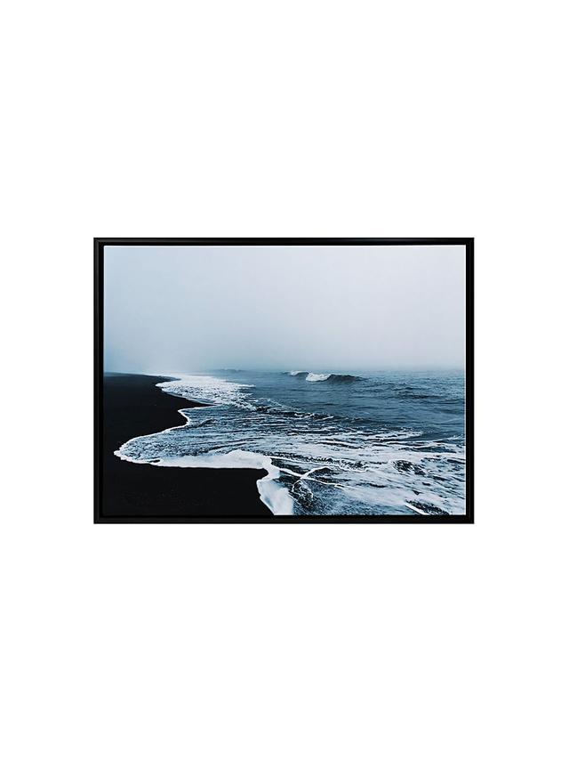 A La Mode Studio Black Sand Beach Frames Canvas Print